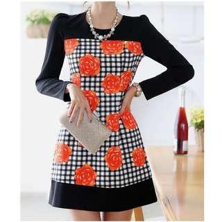 long sleeve dress: e27244 L