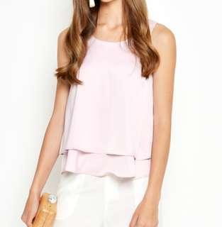 Love and Bravery layered pink top