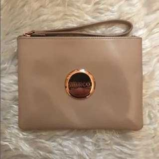 FREE MONOGRAMMING!!! Brand new mimco pouch in pancake patent leather with rose gold hardware
