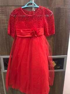 Red Dress for kids 6-8 years