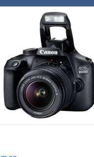 Canon EOS 4000D 18-55mm SLR Camera Kit 18MP Black - Digital Camera