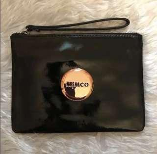 FREE MONOGRAMMING!!! SALE Mimco pouch in black patent leather with rose gold hardware RRP $99.95
