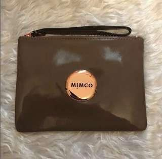 *RARE* Mimco pouch in brown birch patent leather!! Discontinued style hard to find