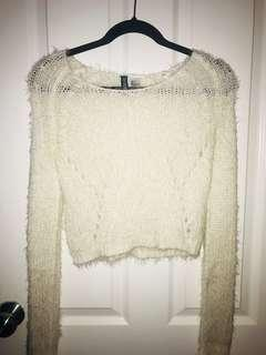 H&M fuzzy sweater