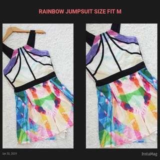 RAINBOW JUMPSUIT FIT M