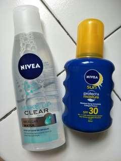 Nivea micellar water dan nivea protect