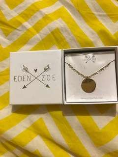 Gold 14k compass necklace