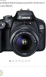 Canon Eos 4000-D DSLR Camera and Ef-S 18-55 mm F, 3.5-5.6 Lens (Black)