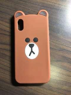 Iphone X Brown Bear Cover