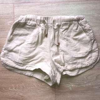 High Waisted Beige Shorts