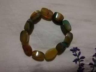 Jade Bracelet unique square cut