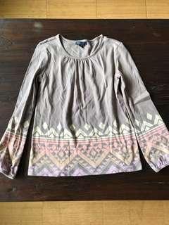 美國知名品牌GAP純棉民族風休閒上衣