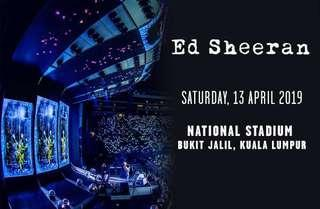 CAT 3 (2 tickets) -Ed Sheeran Divine World Tour 2019