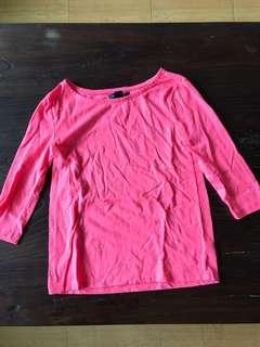 美國知名品牌GAP純棉七分袖休閒上衣