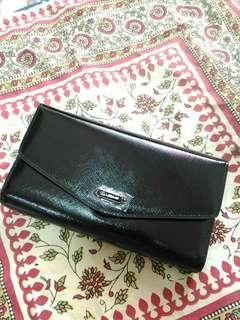🚚 全新黑色 小羊皮 手拿包 長夾 手機包 沒有附背帶