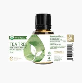 🚚 Rocky Mountain Organic Tea Tree Essential Oil 15ml