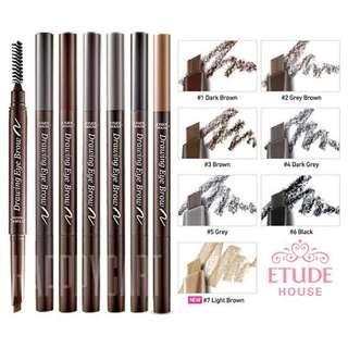 Etude house drawing eyebrow (dark brown)