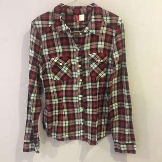 H&M flannel tartan checked shirt