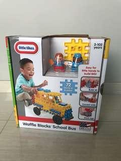 Free Delivery Brand New Little Tikes Waffle Blocks Vehicle School Bus
