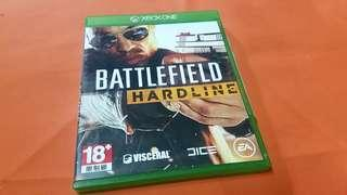 X BOX ONE BATTLEFIELD HARDLINE     game made in Singapore