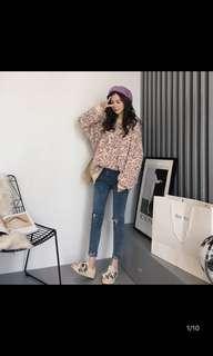 韓系豹紋毛衣