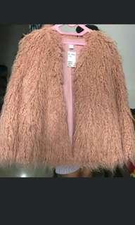 Pink faux fur H&m #CNY2019
