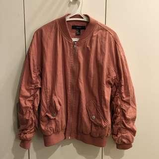 Forever21 dusty pink bomber jacket