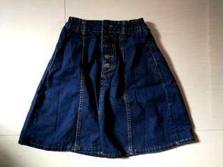 Jeans maxi button up skirt