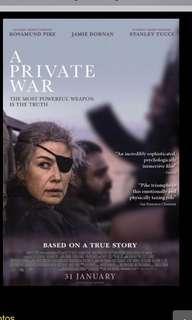 🚚 A Private War movie tickets @ GV