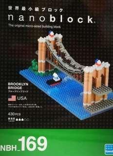 全新Nanoblock NBH_169 Brooklyn Bridge