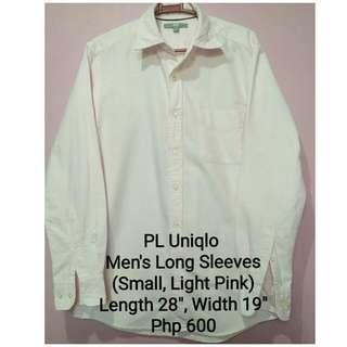 PL Uniqlo Men's Long Sleeves (Small, L. Pink)