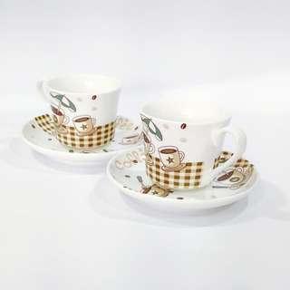 🚚 咖啡杯盤組(共4件)