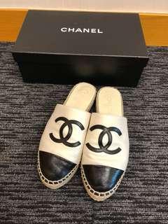 (有單) 95% new Chanel 拖鞋 草鞋 loafer espadrilles