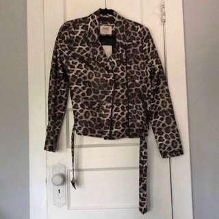 Leopard biker jacket