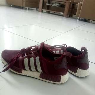 70deb278b Adidas Nmd R1 Glitter Merah Maroon