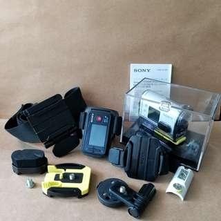 SONY HDR-AS100V action camera 運動 防水 攝錄機 全套齊