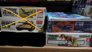 Aircraft / Military / Dinosaur kits!