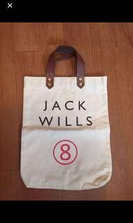 Jackwills 珠帆布袋