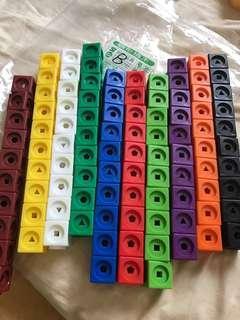 🚚 力豆力豆教具 連接積木形狀配對 100個