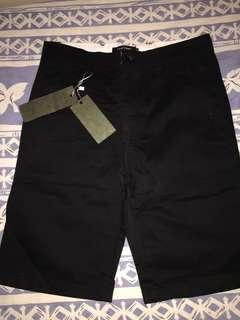 黑色布質長褲 100%全新