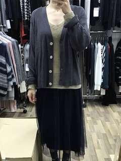 New Cotton/wool knitted cardigan 全新羊毛棉質輕身外套