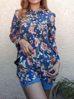 Floral Longsleeves Top