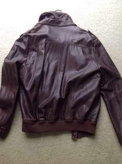 Brown Authentic Leather Jumper