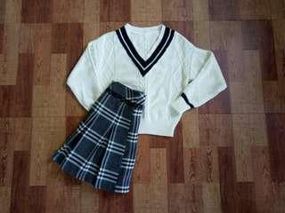 🚚 V領針織毛衣#一百均價