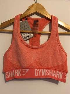 Gymshark Flex peach coral sports bra