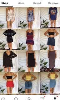 All clothes $10 each