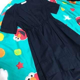 Navy blue one piece dress