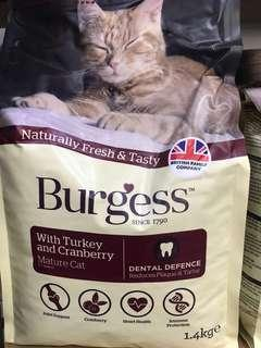 🚚 Burgess Dry Cat Food for Mature Cat with Turkey and Cranberry