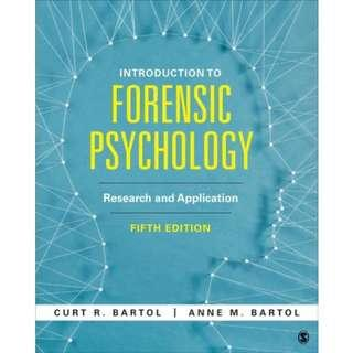 Introduction to Forensic Psychology: Research and Application Fifth Edition (Almost New)