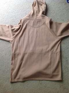 Brown Creme oversized hoodie (negotiable price)